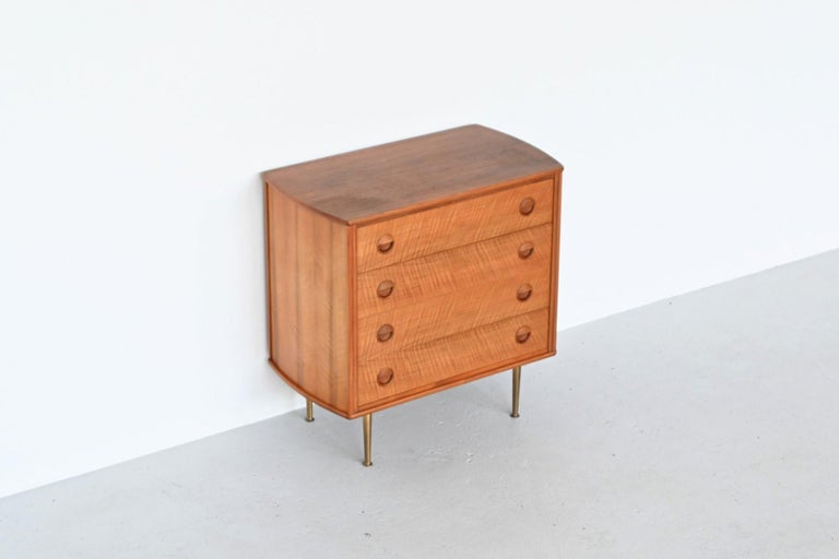 William Watting Walnut Chest of Drawers Fristho Franeker The Netherlands, 1960 For Sale 4