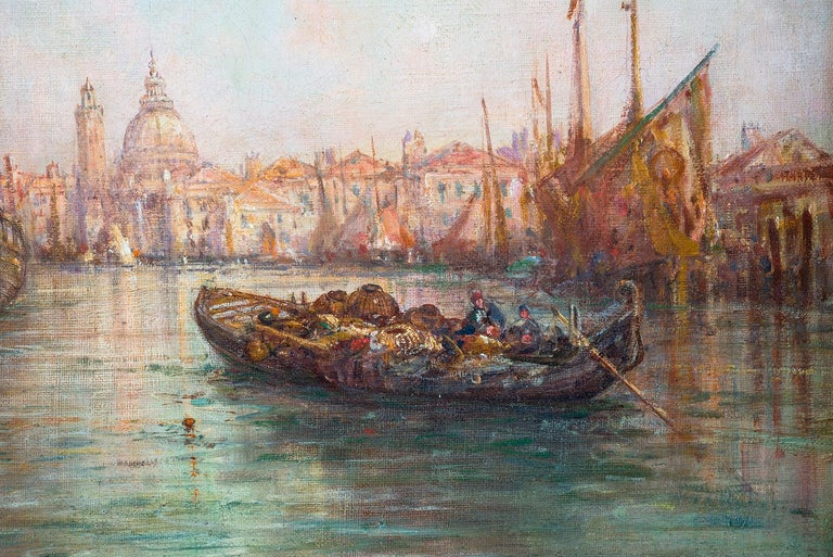 English William Webb, Oil on Canvas of Venice, 1880 For Sale