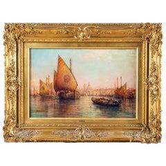 William Webb, Oil on Canvas of Venice, 1880