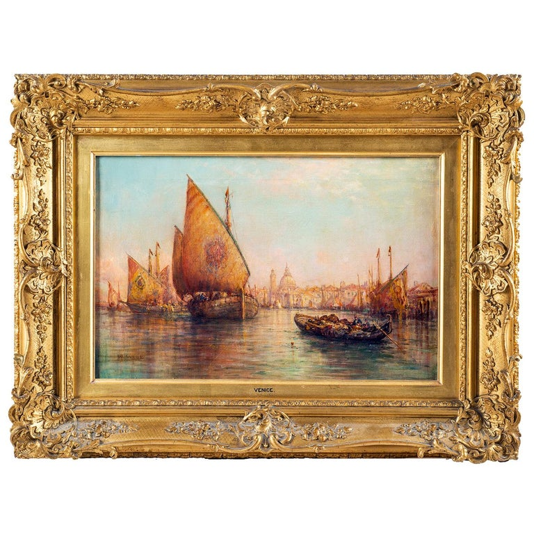 William Webb, Oil on Canvas of Venice, 1880 For Sale