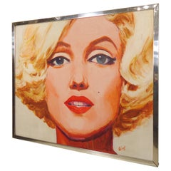 William Wendt Signed Marilyn Monroe Painting