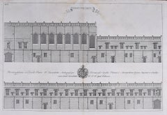 William Williams engraving of Christ Church - College at Oxford c.1732