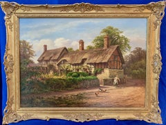 Victorian period view of Anne Hathaway's Cottage, wife of William Shakespeare