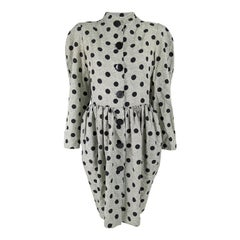 Williwear by Willi Smith Vintage Documented Polka Dot Dress, 1984