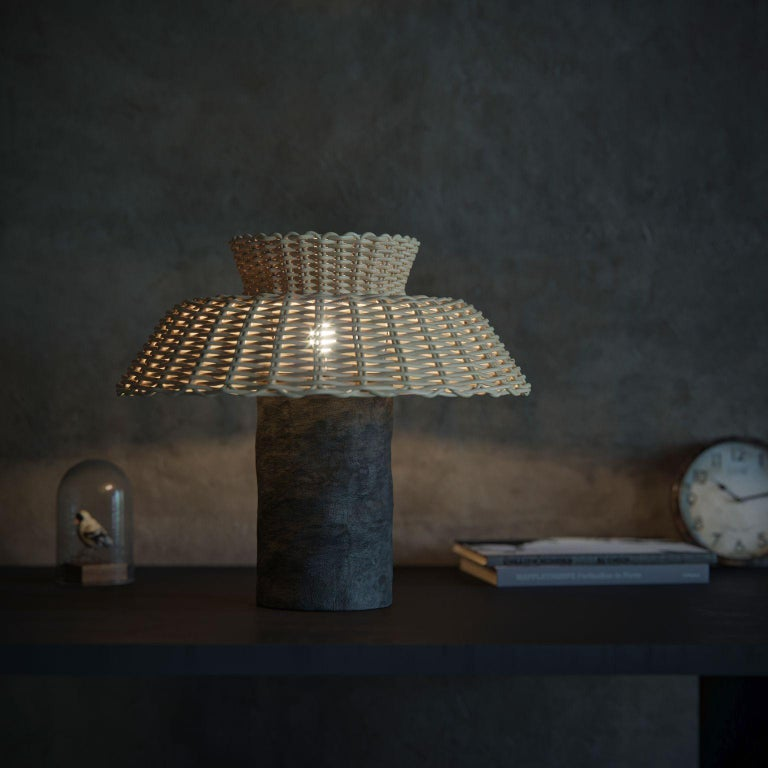 Modern Willow Contemporary Table Lamp by FAINA For Sale