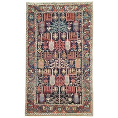Willow Tree Antique 20th Century Persian Bakhtiari Wool Rug
