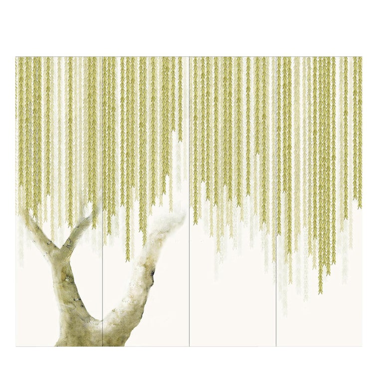 Italian Willow Wallpaper For Sale