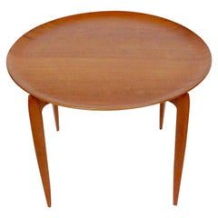 Willumsen and Engholm for Fritz Hansen Folding Teak Tray Table