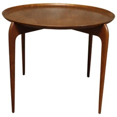 Willumsen & Engholm Danish Teak Side Table with Removable Tray Top