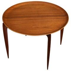 Willumsen & Engholm Folding Teak Tray Table for Fritz Hansen