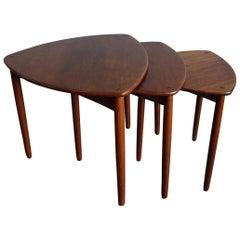Willy Beck Danish Modern Teak Nesting Tables