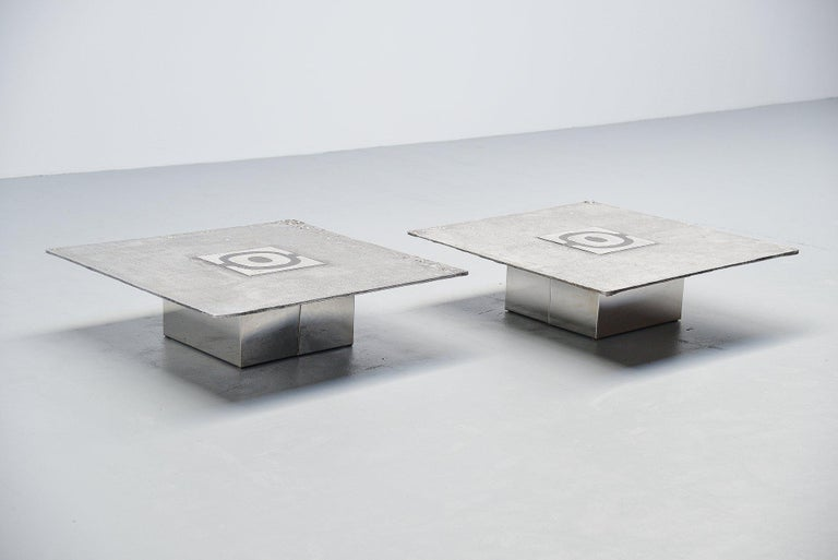 Mid-Century Modern Willy Ceysens Coffee Table Pair, Belgium, 1970 For Sale