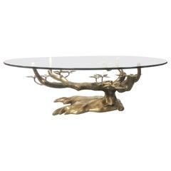 Willy Daro Brass Bonsai Surrealist Coffee Table