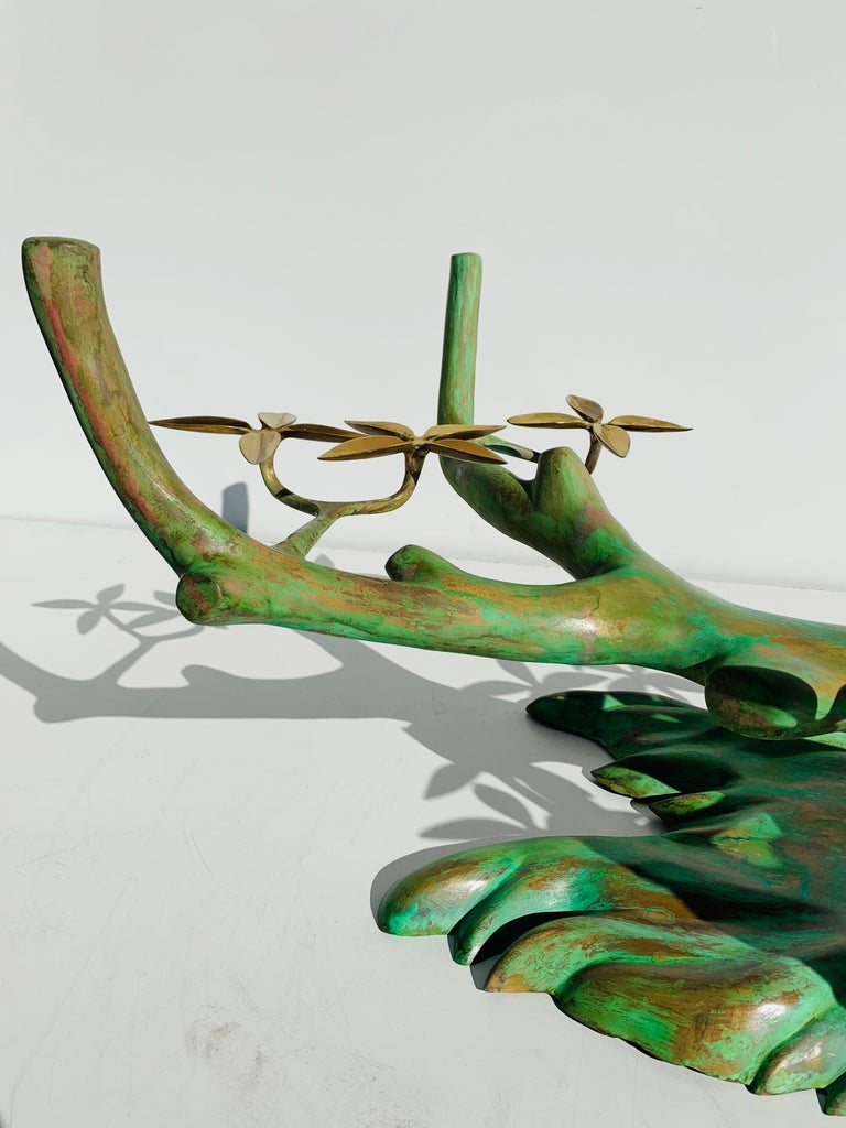 Willy Daro Brass Bonsai Tree Coffee Table For Sale 5