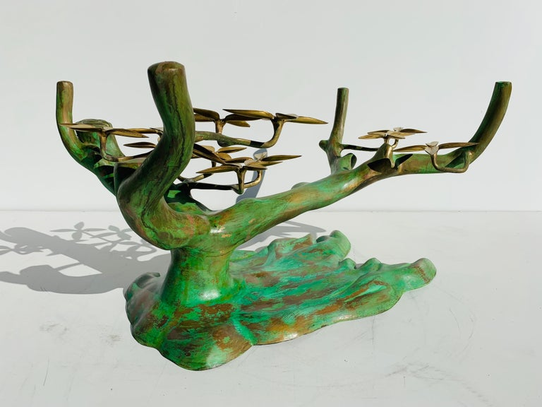 Willy Daro Brass Bonsai Tree Coffee Table For Sale 9