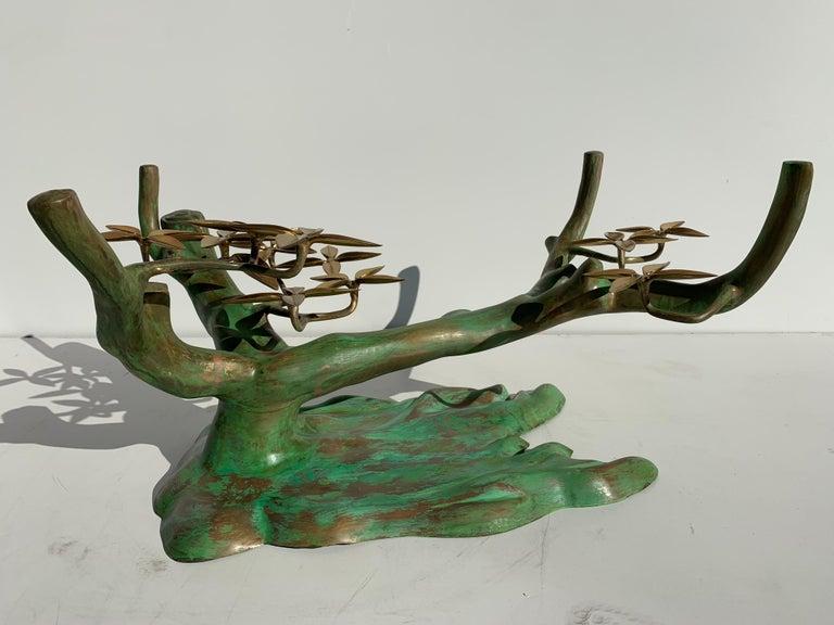 Belgian Willy Daro Brass Bonsai Tree Coffee Table For Sale