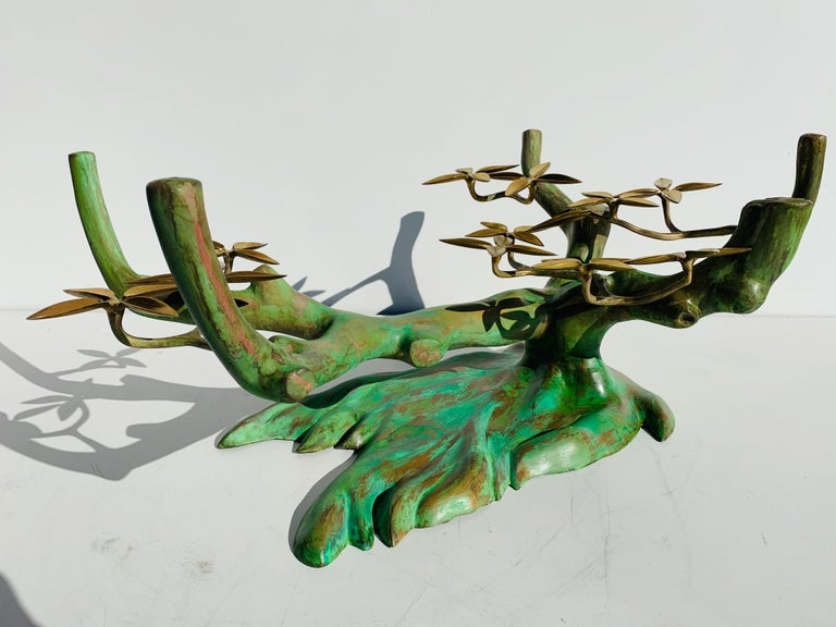 Willy Daro Brass Bonsai Tree Coffee Table For Sale 2