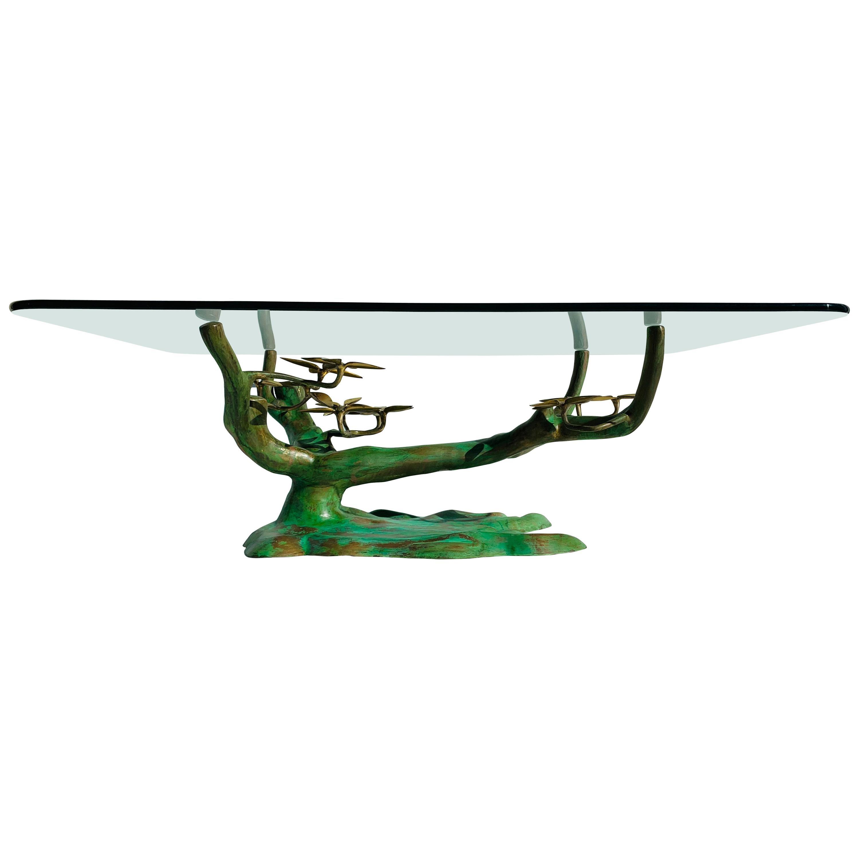 Willy Daro Brass Bonsai Tree Coffee Table