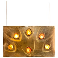 Willy Daro Illuminated Wall Panel, 1970s