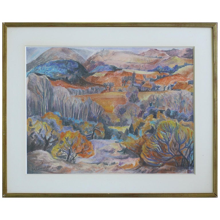Willy Eisenschitz Original pastel For Sale