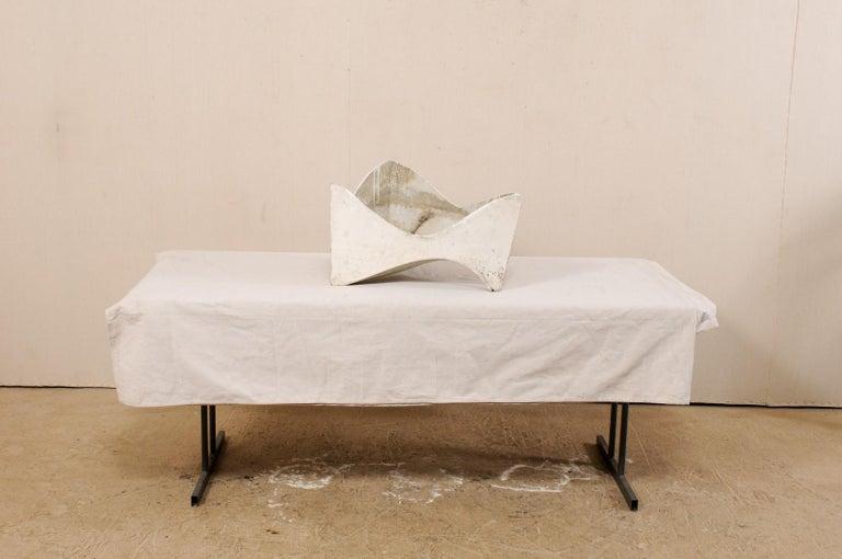 Willy Guhl Abstract Triangular Eternite Planter, Mid-Century For Sale 4
