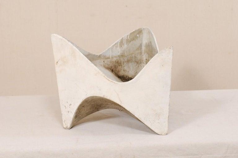 Mid-Century Modern Willy Guhl Abstract Triangular Eternite Planter, Mid-Century For Sale