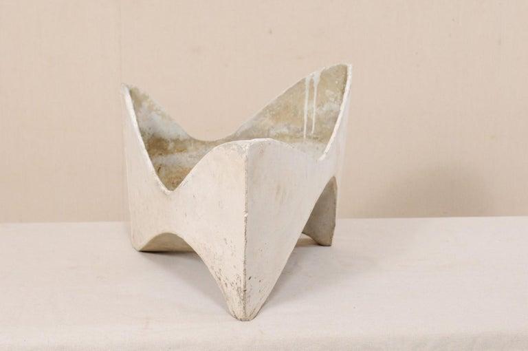 20th Century Willy Guhl Abstract Triangular Eternite Planter, Mid-Century For Sale