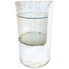 Willy Guhl Concrete and Glass Side Table