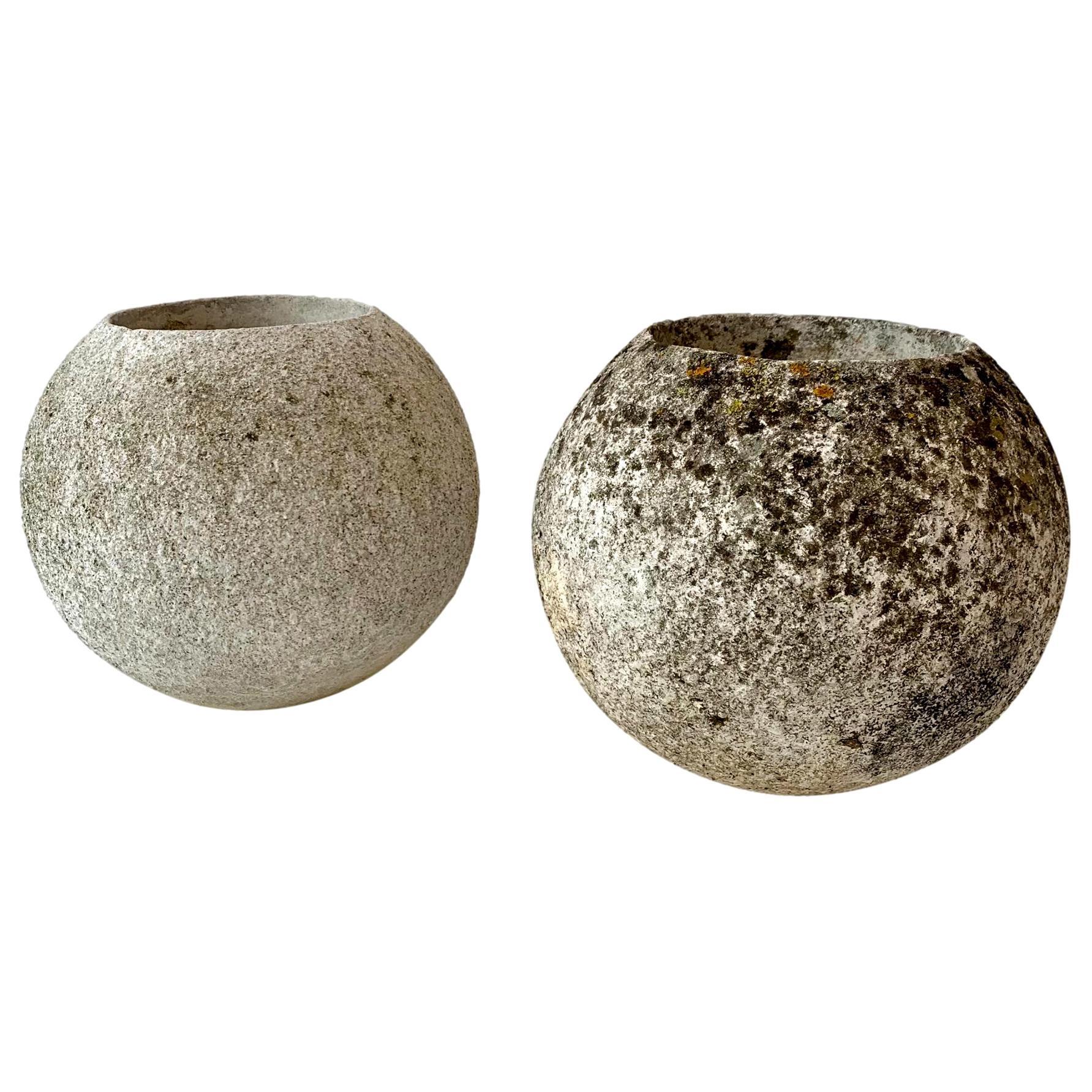 Willy Guhl Concrete Ball Planters
