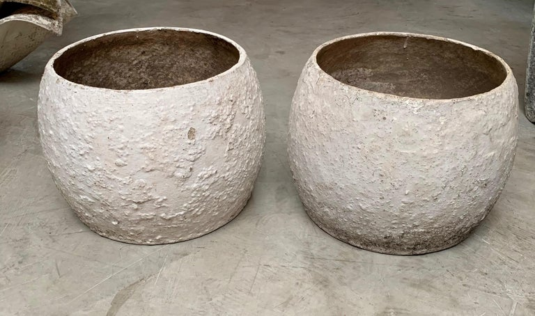 Swiss Willy Guhl Concrete Vases For Sale