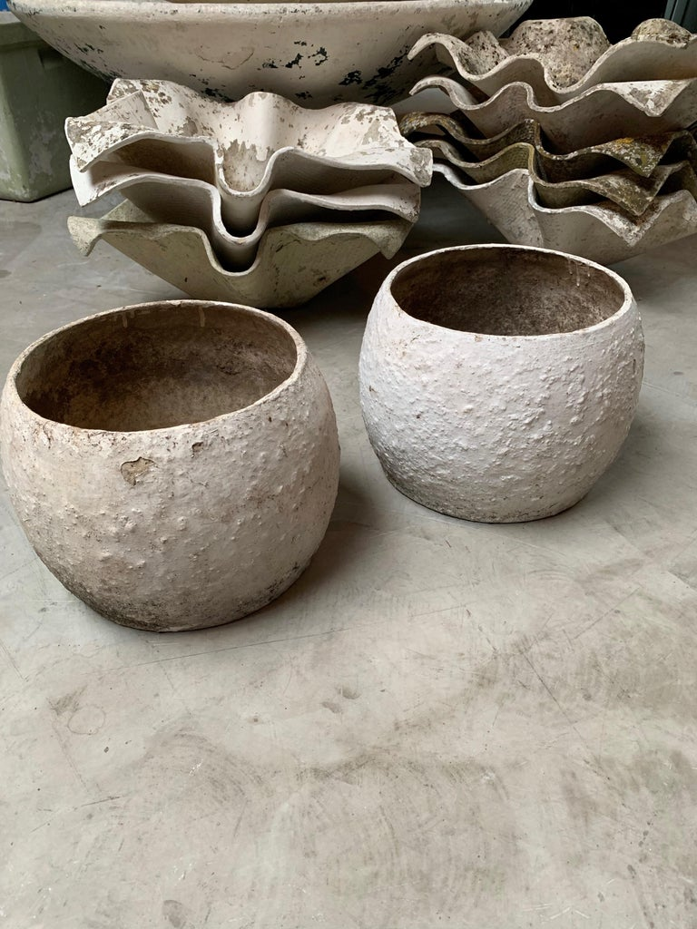 Willy Guhl Concrete Vases In Good Condition For Sale In Los Angeles, CA