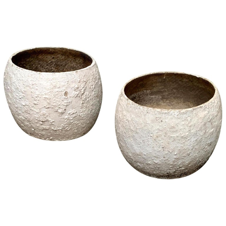 Willy Guhl Concrete Vases For Sale
