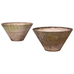 Pair of Willy Guhl Cone Shaped Planter