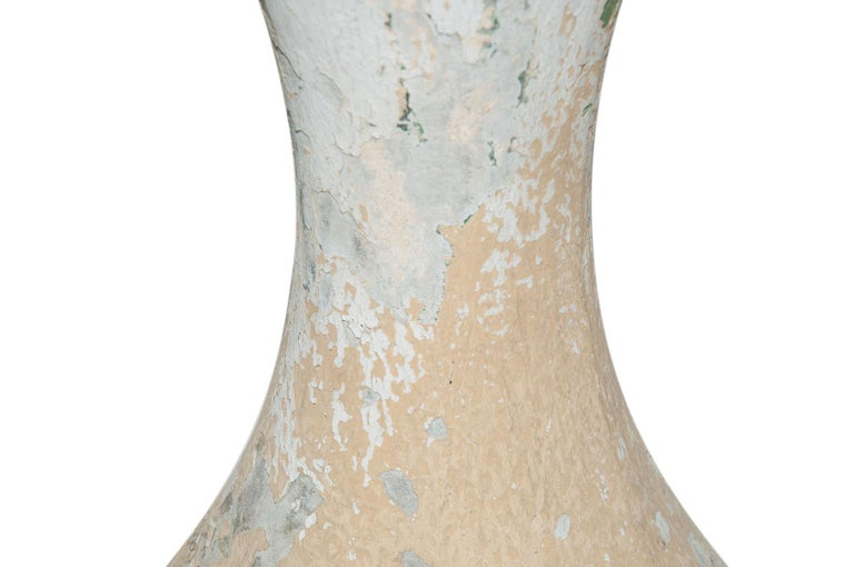 Mid-20th Century Willy Guhl Diabolo Planter, in Cement, Switzerland 1960, Old Patina, Grey Color For Sale