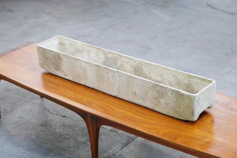 Willy Guhl for Eternit Extra-Long Rectangle Concrete Outdoor Planter, circa 1968 For Sale 5