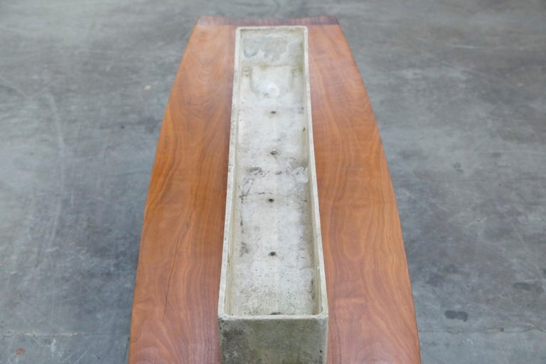 Willy Guhl for Eternit Extra-Long Rectangle Concrete Outdoor Planter, circa 1968 For Sale 6