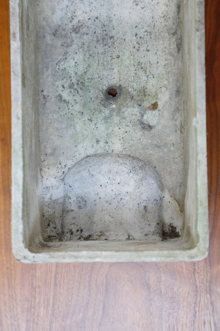 Willy Guhl for Eternit Extra-Long Rectangle Concrete Outdoor Planter, circa 1968 For Sale 7