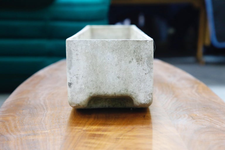 Willy Guhl for Eternit Extra-Long Rectangle Concrete Outdoor Planter, circa 1968 For Sale 8