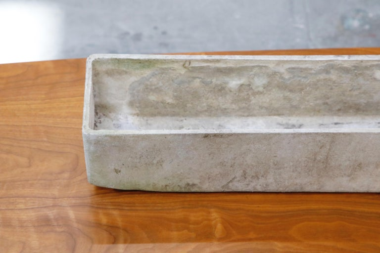 Mid-20th Century Willy Guhl for Eternit Extra-Long Rectangle Concrete Outdoor Planter, circa 1968 For Sale