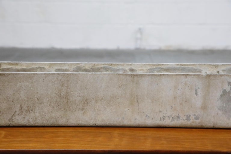 Willy Guhl for Eternit Extra-Long Rectangle Concrete Outdoor Planter, circa 1968 For Sale 1