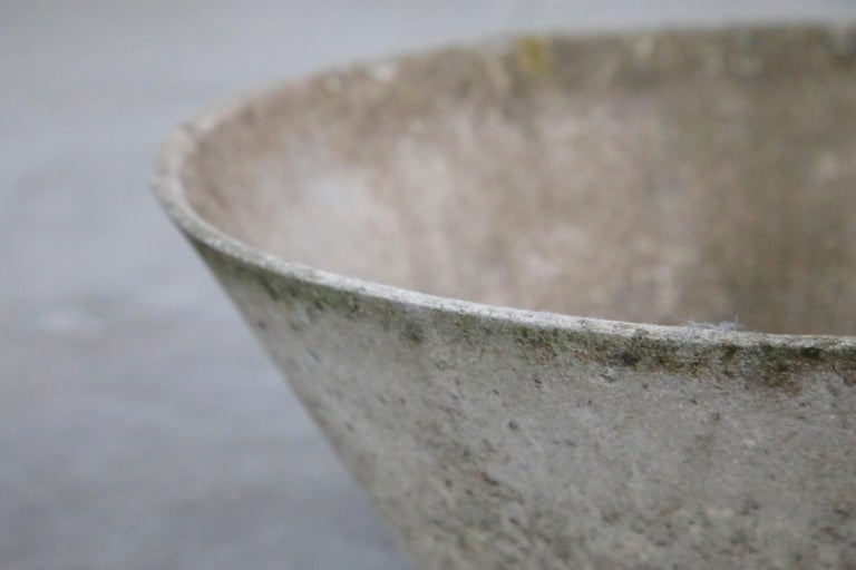 Willy Guhl for Eternit Large Cone Concrete Planters, circa 1968, Signed For Sale 13