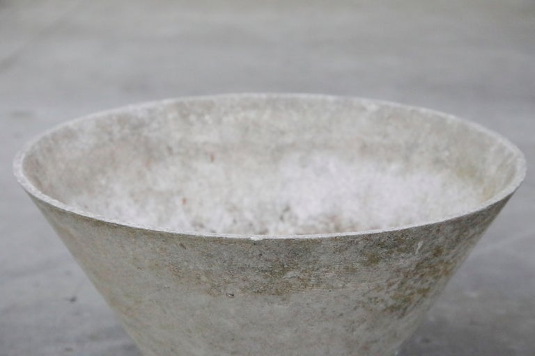 Swiss Willy Guhl for Eternit Large Cone Concrete Planters, circa 1968, Signed For Sale