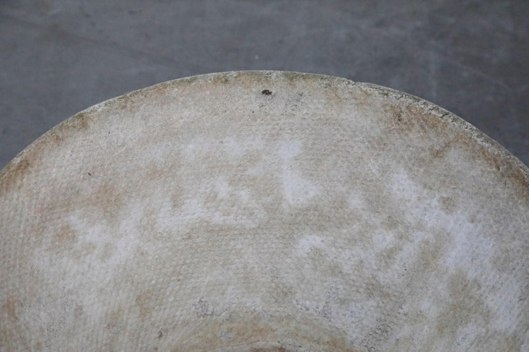 Willy Guhl for Eternit Large Cone Concrete Planters, circa 1968, Signed For Sale 3