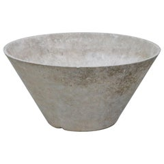 Willy Guhl for Eternit Large Cone Concrete Planters, circa 1968, Signed