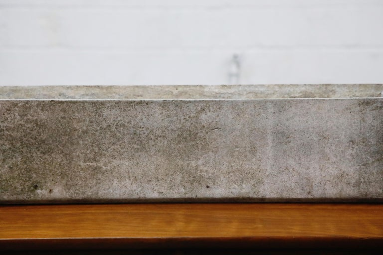 Mid-20th Century Willy Guhl for Eternit Large Rectangle Concrete Outdoor Handle Planter For Sale
