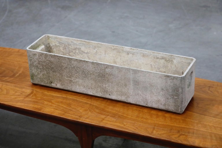 Willy Guhl for Eternit Large Rectangle Concrete Outdoor Handle Planter For Sale 1