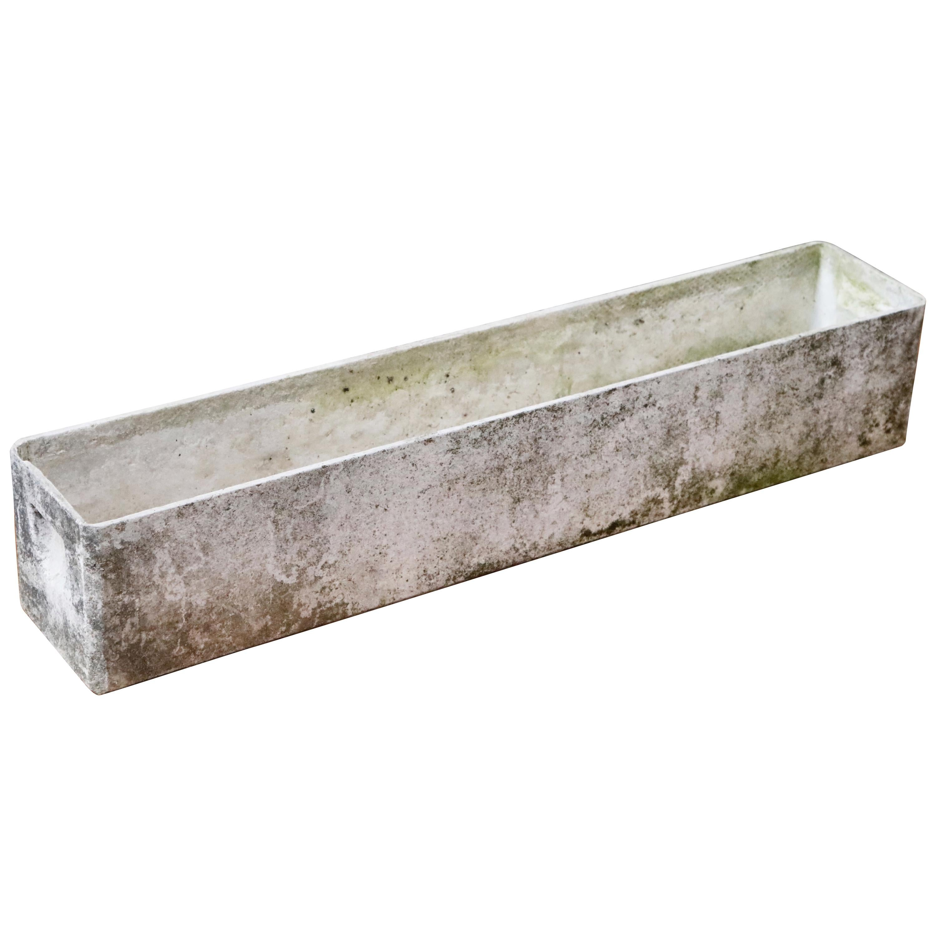 Willy Guhl for Eternit Large Rectangle Concrete Outdoor Handle Planter