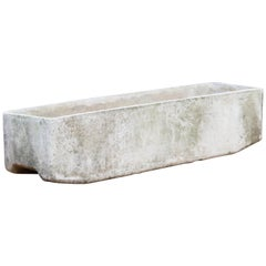 Willy Guhl for Eternit Large Rectangle Concrete Outdoor Planter, 1970s, Signed