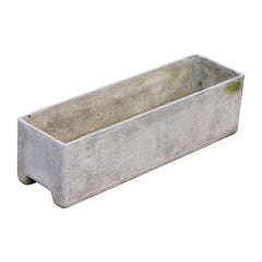 Willy Guhl for Eternit Large Rectangle Concrete Outdoor Planter, Signed