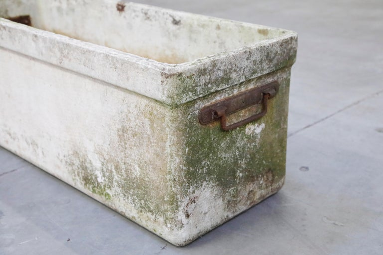 Willy Guhl for Eternit Large Rectangular Planter with Handles, circa 1968 For Sale 4